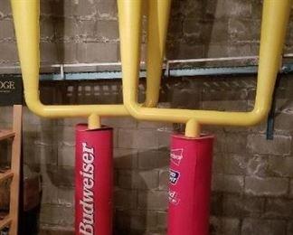 Huge Budweiser Football Uprights