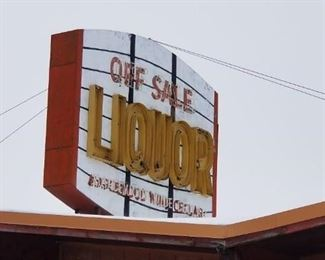 Vintage 10ft Liquor Store Marquee Neon Sign