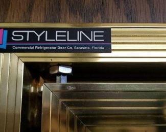 2 - 5 Door sections of Near New Styleline Cooler Doors and Racks