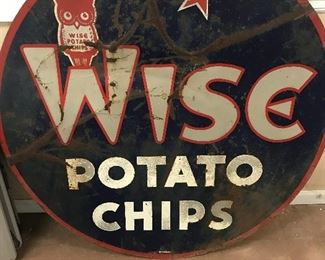 "RARE 36"" DSPT Wise Potato Chip Sign"