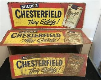 Early Embossed Chesterfield Signs