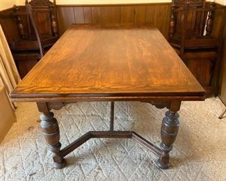 1920s Jacobean Style Bernhardt Dining Table