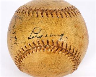 1937 Yankees Lou Gehrig Team Baseball
