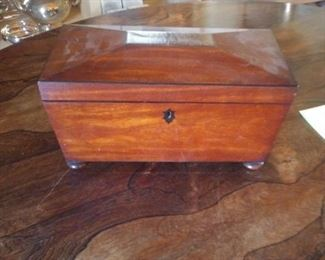 Antique tea caddy 1800s