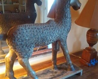 Hand carved Nepalese goat