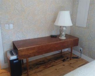 6 ft antique drop leaf table