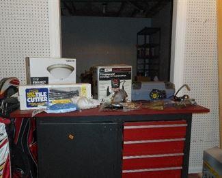 Craftsman Workbench, tools, etc