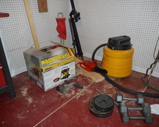 Paint Sprayer, wet dry vac, weights