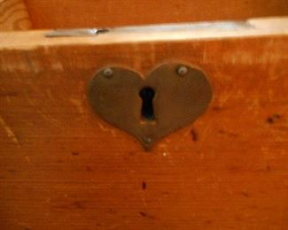 Brass Heart Lock