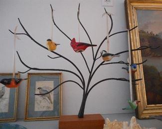 Longaberger Backyard Birds Set