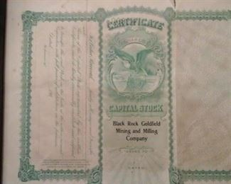 Capital Stock Black Rock Goldfield Mining and Milling Company