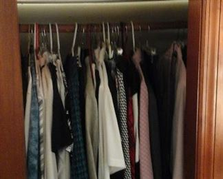 vintage and newer ladies clothes