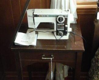 White model 1111 sewing machine  (works )