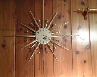 Vintage Phinney Walker Starburst wall clock (works great)