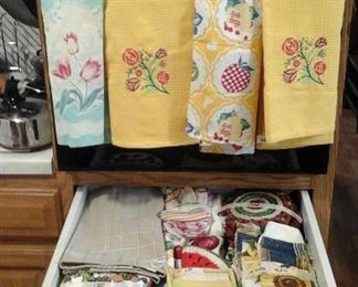 dish towels,  pot holders