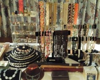 vintage costume jewelry, signed baseball's, wrist watches, vintage perfume and more