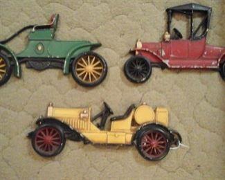 Vintage cast aluminum cars