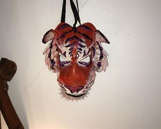 Leather  tiger mask