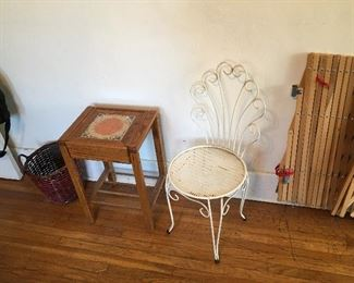 Small table  side chair