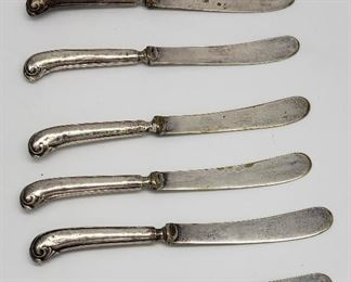 Sterling Silver Pistol Handle Knives