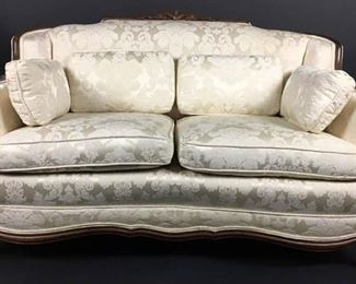 Damask Fabric Antique Sofa