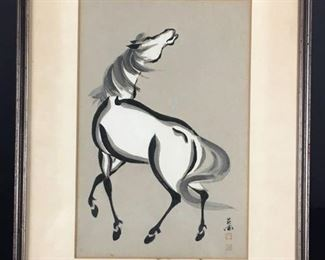 Japanese Watercolor of Horse