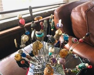 Victorian hat pin collection