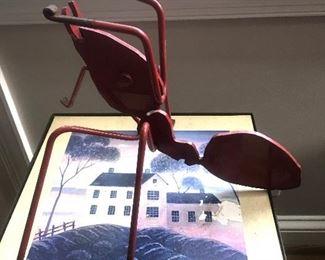 Cast iron garden bug