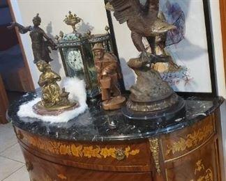 Bombe marketiado de bronze Aguila debronze Reloj antique  Lady bronze
