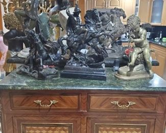 Bombe Escultura de bronze  Angel cupido