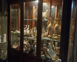 Bastones de bronze y porcelana  Vitrina  Sevres
