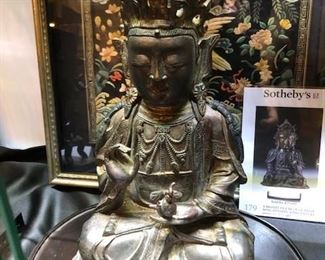 Museum quality antique Chinese Ming Dynasty bronze Quan Yin.
