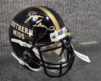 Autographed Mini Football Helmet #4 Brett Favre Southern Miss COA