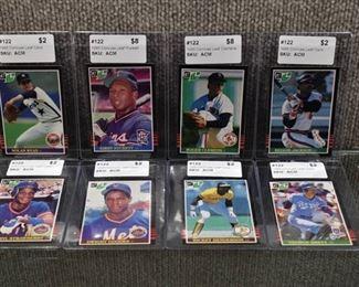Lot of 8 1985 Donruss Leaf (Canadian) Baseball Cards -Kirby Puckett Rookie, Roger Clemens Rookie, Nolan Ryan George Brett & More