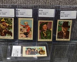 Lot of 5 Vintage Movie Star Western Arcade Cards -Roy Rogers, Bob Hope, Jane Russel, Bill Boyd