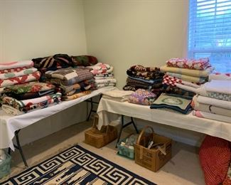 Lots of vintage handmade quilts.  (Several not pictured.  Still unpacking).