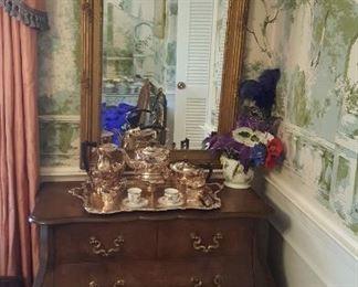 Louis XVI Mirror hand painted
