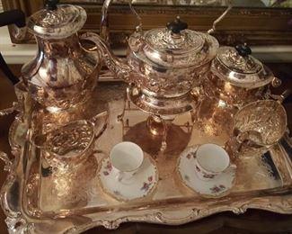 Antique Silver Serving Set