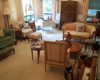 Antique sofa's and various style and style antique occasional tables