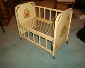 1950's metal Doll Bed