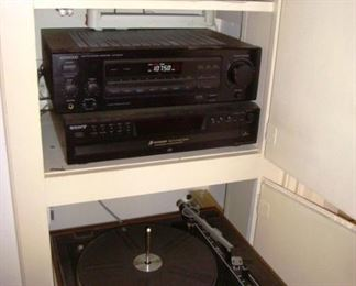 Stereo Equipment including a record player turntable
