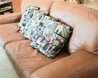 Buttery soft vintage leather couch
