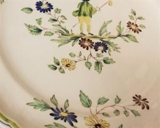 "Large vintage dish set Longchamp  ""Artois"""