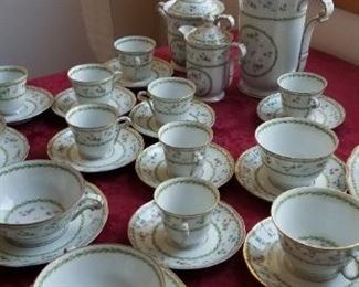 Large set of Limoges dishes