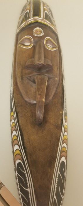 African wall carving