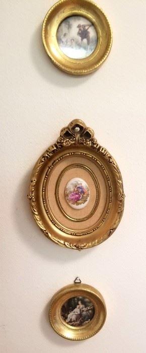 Vintage handpainted medallion