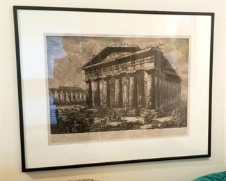 Several art pieces by Giovanni Batista Piranesi, 18th century print maker, available