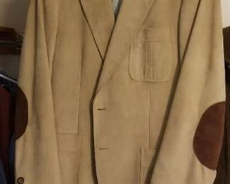 Vintage leather blazer with patches