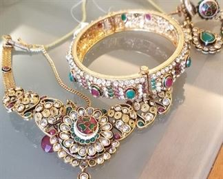 Colorful Indian jewelry set