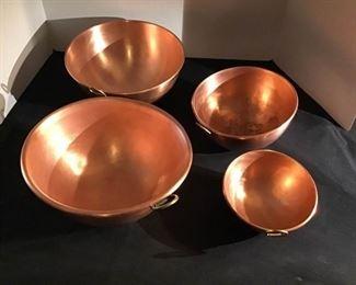 4 Copper Pots